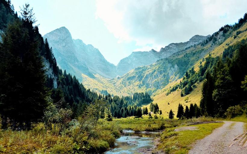 Village de vacances dans les Alpes