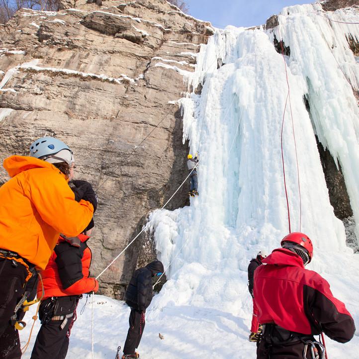 vacances sport areches cascade de glace